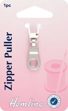 Hemline -Zipper Puller Silver Ring Attach to Zip, for Easy Open & Close - Pack 1