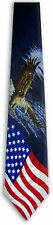 NEW! USA American Flag with Eagle Soaring Patriotic Novelty Necktie  836