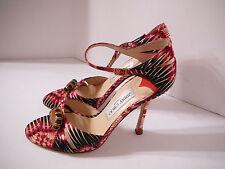 Jimmy Choo 38.5 Silk Satin Jeweled Heels. NEW  $995