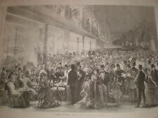A Summer Evening on the Paris Boulevards France 1869 print