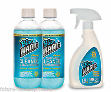 BLUE MAGIC 2x 500ml Cleaning Solution + Mixer Bottle with Spray Nozzle NEW