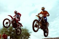 Photo Johny Ponjee (NED) Leo Moullijn (NED) GP Motocross Valkenswaard 1980 #2