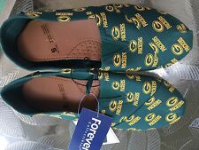 Green Bay Packers NFL Pattern Slip On Canvas Shoes Slippers/Sneakers Small 5-6