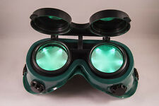 Steampunk Cyber Goth Goggles GREEN LED Light in Lense Halloween Christmas Gift
