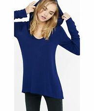 EXPRESS X-Small ONE ELEVEN LONG SLEEVE HOODED SCOOP TEE Shirt top