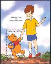Ghana 1996 disney/winnie la pooh/bears/books / cartoons/animation 1v m/s b4444