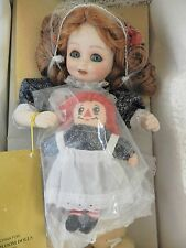 BEAUTIFUL FRANKLIN MINT HEIRLOOM DOLLS ANNIE & HER RAGGEDY ANN EUC 12""