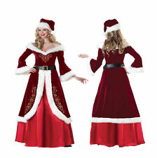 MRS SANTA CLAUS CHRISTMAS QUEEN COSTUME DRESS UP RED ADULT SIZE S OUTFIT