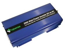 NEW SUPEREX DC TO AC 2500 WATT POWER INVERTER - 25 AVAILABLE