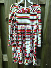 Gymboree Girls size 9 Fall Forest Striped Long Sleeve Knit Dress Flowers Floral