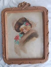 SyrocoWood Picture Frame-Art Nouveau style with vintage color print