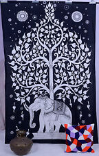 Indian Tree Of Life Psychedelic Wall Hanging Elephant Tapestry Bohemian Throw