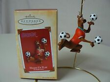 Hallmark Ornament 2004 HEADS UP PLAY Soccer Balls SCOOBY DOO Player NEW IN BOX