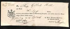 POST fittizio Württemberg 1846 #h155