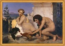 Young Greeks Attending a Cock Fight Jean-Leon Gerome Spiele Hahn B A2 02536