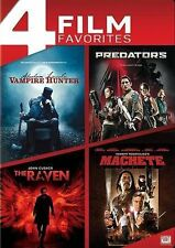 Abraham Lincoln: Vampire Hunter/Predators/The Raven/Machete DVD 4-Disc Brand New