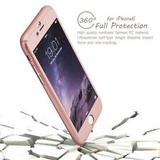 iPhone 6+ 6S+ Hard Ultrathin Case  Tempered Glass Cover  Hybrid 360° Rose Gold