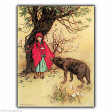 Little Red Riding Hood - METAL SIGN WALL PLAQUE Childrens Play Room Nursery