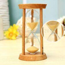 3 MINUTI Clessidra in legno e vetro con SABBIA GIALLA Orologio Timer Decorazione