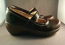 Women's Soft Walk Brown Patent Leather Mary Jane Shoes Size 7M