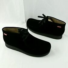NEW Clarks Men's Stinson Hi Wallabee Style Black Suede Boots 63368 Size 11.5