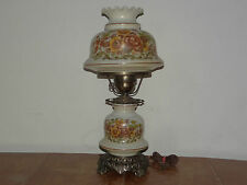 Quoizel Inc. 3 Way Hurricane Portable Brass Glass Electric Table Lamp 1973