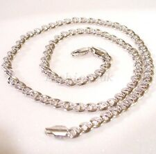 Men New 50cm Lobster Clasp White Gold Plated Xmas Birthday Link Chain Necklace