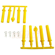ABC Hobby 5mm 6mm Extension Body Post Yellow 1:10 RC Cars Drift Touring #66212