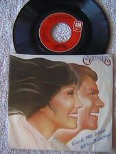 "THE CARPENTERS ""TOUCH ME WHEN WE'RE DANCING"" 7"" PICTURE SLEEVE 45 1981"