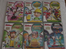 6 Dvd DISNEY JUNIOR collection MANNY TUTTOFARE + LA CASA DI TOPOLINO Walt NUOVI*