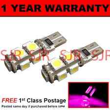 W5W T10 501 CANBUS ERROR FREE PINK 9 LED SIDELIGHT SIDE LIGHT BULBS X2 SL101701