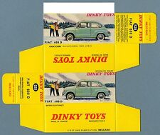 DINKY TOYS 520 : FIAT 600 D refabrication boite repro reprobox copy copie box