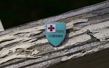 American Red Cross Home Nursing Shield Metal & Enamel Lapel Pin Pinback