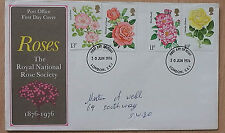 GB FDC ROSES  1976  FC 99