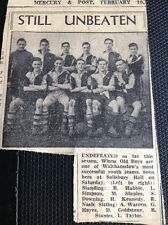 m1-5 ephemera 1949 Picture Football Team Squad Walthamstow Winns Old Boys
