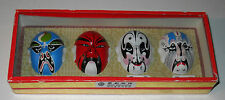 Chinese Opera Face Painting Masks in Display Box Hsieh Hu Kwan Yu Chang Fei MaWu