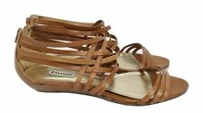 DUNE Gladiator Shoes Size 8 Brown Strappy Flats Designer Boho Casual