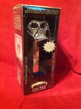 Star Wars GIANT LIMITED EDITION Darth Vader Silver Chrome Pez Dispenser New!