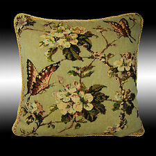 """VINTAGE BUTTERFLY TAPESTRY BOTH SIDES THROW PILLOW CASE CUSHION COVER 17"""""""