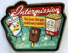 Movie Theater LED Metal Sign Intermission Vintage Home Theatre Decor Cinema New