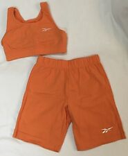 Reebok Sport Bra Shorts Workout Set Small