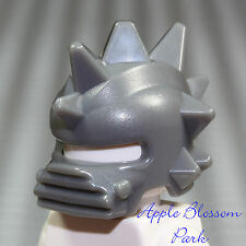 NEW Lego Castle Knight SPIKED GRAY BATTLE HELMET - Slizer Minifig Dark Head Gear