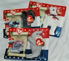 Beanie Baby American Trio Righty Lefty and Libearty NIP 1996