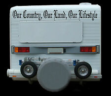 Massive Our Country, Our Land, Our Lifestyle Caravan, Truck Sticker Decal