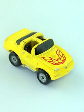 Micro Machines Vehicle Car 1973 Pontiac Trans Am Yellow Red Eagle Galoob