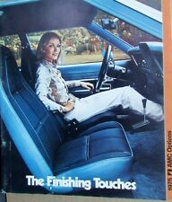 1975 AMC Gremlin Hornet Matador Options Sales Brochure Denim Portfolio Pocket