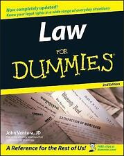 Law for Dummies® by John Ventura (2005, Paperback, Revised)