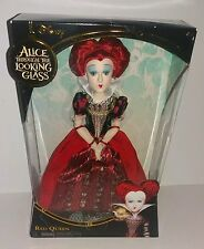 "DISNEY ALICE THROUGH THE LOOKING GLASS RED QUEEN 12"" DOLL MIB NEW"