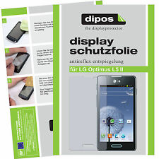 2x LG Optimus L5 II Schutzfolie matt Displayschutzfolie Folie Antireflex 1A