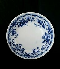 """Antique Albion blue & white ceramic plate Brown Westhead Moore & Co. 10.5"""" 1893"""